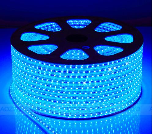 Đèn led dây đôi 3 hàng bóng 5730: Vàng, trắng,xanh dương
