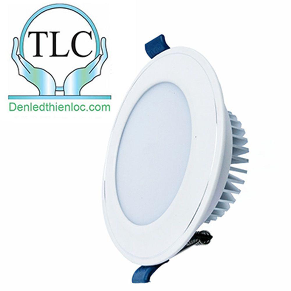 Đèn led âm trần mặt cong trắng 3 màu 12w
