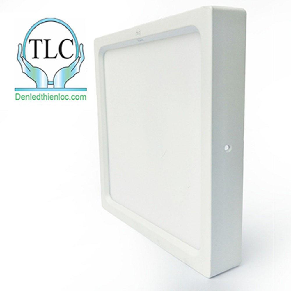 Đèn led ốp trần nổi vuông 12w trắng