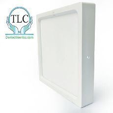 Đèn led ốp trần vuông màu trắng 18w
