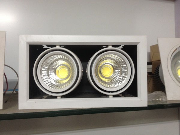 Đèn Led âm trần hộp vuông đôi 24w