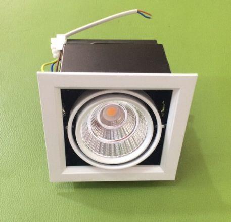 Đèn led downlight âm trần vuông đơn