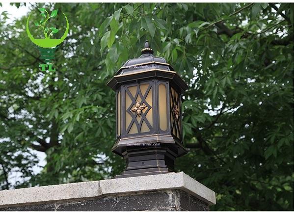 Đèn trụ cổng đồng cao cấp TL60