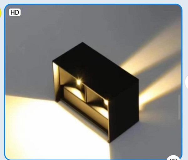 Đèn ốp tường ngoài trời 2 bóng